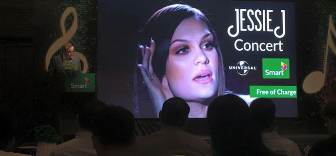 Image for Jessie J in concert in Phnom Penh on 12.12.2015 – brought to Cambodia by Smart