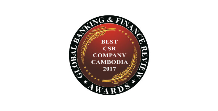 Best CSR Company Cambodia 2017 by Global Banking & Finance Review