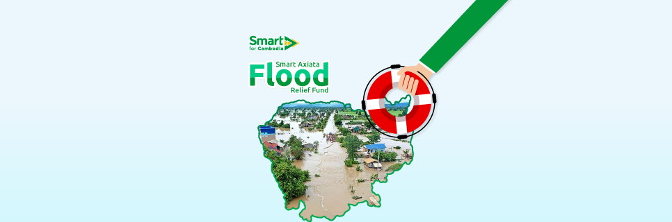Image for Smart Axiata Flood Relief Fund announced for subscribers to help fellow Cambodians