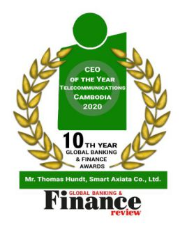 CEO of the Year Telecommunications Cambodia 2020 by Global Banking & Finance Review​